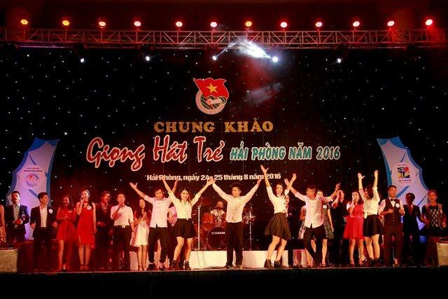 Cuộc thi Giọng hát trẻ Hải Phòng đã thu hút hơn trăm đoàn viên thanh niên thành phố tham dự. Ảnh: LHH