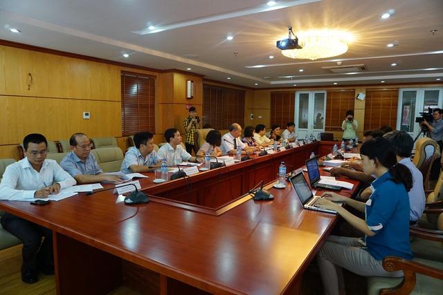 Toàn cảnh buổi làm việc giữa lãnh đạo Tổng cục DS-KHHGĐ và đoàn công tác đến từ Bangladesh. Ảnh: N.Mai