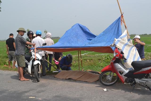 Vụ tai nạn khiến nữ sinh Nguyễn Thị Hạ tử vong tại chỗ. Ảnh: Đ.Tuỳ