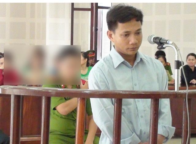 Bị cáo Trần Quang Hai trước vành móng ngựa tại phiên tòa ngày 9/6. Ảnh: Đ.H
