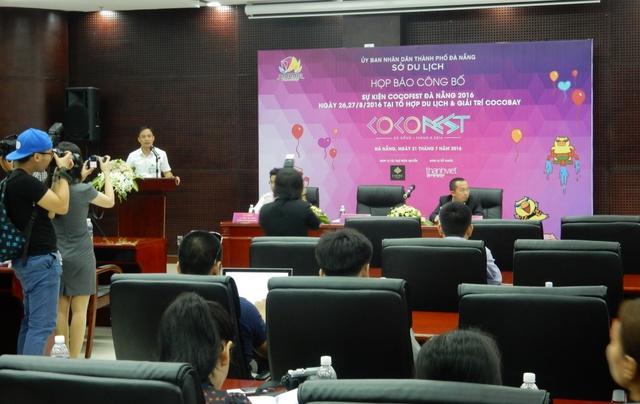 Quang cảnh buổi họp báo sự kiện Cocofest Đà Nẵng 2016. Ảnh: Đức Hoàng