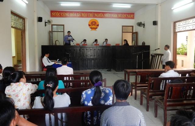 Phiên tòa xét xử bị cáo Nguyễn Văn Xuân về tội Vi phạm quy định về điều khiển phương tiện giao thông đường bộ ngày 23/9. Ảnh: Đức Hoàng