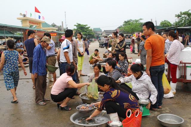 Du khách ở Hà Nội vẫn chọn hải sản Cửa Lò làm món quà khi về nhà.