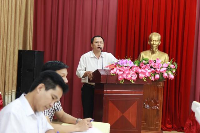Đai biểu trung tâm dân số huyện Thanh Chương phát biểu tại hội nghị