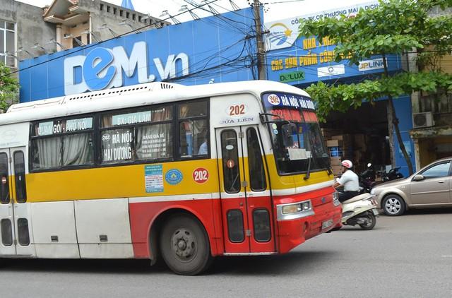 Nạn nhân Hà bị bắt cóc trên chiếc xe bus 202 Hải Dương - Hà Nội.( Ảnh minh hoạ)