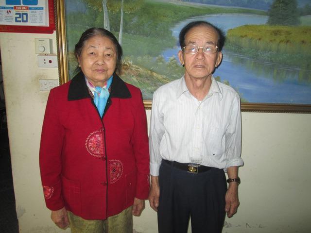 bà Dươn Thị Son và ông Hoàng Văn Nghị. Ảnh: Ngọc Thi