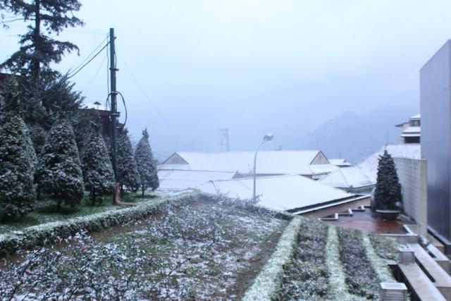 Theo dự báo thì đợt này tuyết ở Sapa rơi với cường độ thấp và không kéo dài như các lần trước.