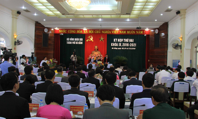 Kỳ họp thứ 2 HĐND TP Đà Nẵng khóa IX, nhiệm kỳ 2016-2021 diễn ra từ ngày 9-11/8. Ảnh: Đức Hoàng