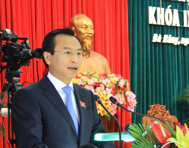 Bí thư Thành ủy, Chủ tịch HĐND TP Đà Nẵng Nguyễn Xuân Anh phát biểu tại kỳ họp. Ảnh: Đức Hoàng