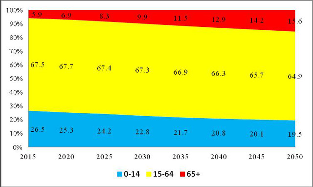 Nguồn: UN, World Population Prospects: The 2015 Revision