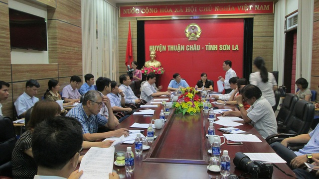 Thứ trưởng Nguyễn Thanh Long làm việc với Ủy ban nhân dân huyện Thuận Châu tỉnh Sơn La
