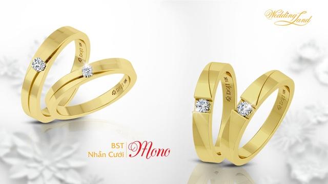 Quen mà lạ, truyền thống mà hiện đại, những mẫu nhẫn cưới Mono luôn tạo niềm cảm hứng cho Nhẫn cưới DOJI cũng như những cặp đôi qua các mùa cưới.