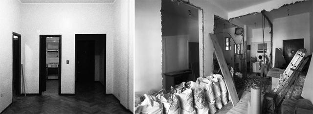 Căn hộ ở thành phố Buenos Aires (Argentina) nằm ở khu nhà được xây dựng từ những năm 1960. Các phòng cách biệt bởi những bức tường dày.