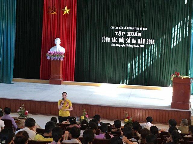 Chi cục DS-KHHGĐ tỉnh Hà Nam tổ chức tập huấn công tác đổi sổ A0 năm 2016