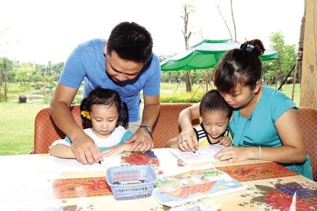 Mỗi gia đình thực sự là một tổ ấm thiêng liêng hạnh phúc nhất của con người. Ảnh: Chí cường