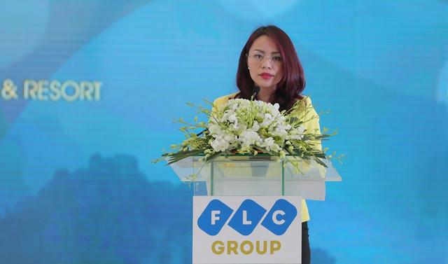 Bà Hương Trần Kiều Dung, Tổng giám đốc Tập đoàn FLC giới thiệu về quần thể du lịch FLC Hạ Long.