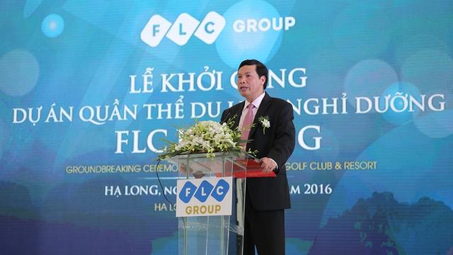 Ông Nguyễn Đức Long, Phó Bí thư Tỉnh ủy, Chủ tịch UBND tỉnh phát biểu tại Lễ Khởi công.