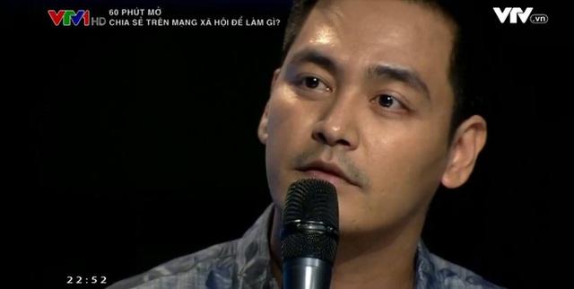 MC Phan Anh trong chương trình 60 phút mở