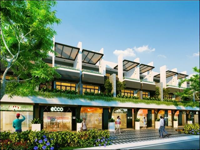 Phối cảnh dự án phố thương mại cao cấp – Ngo Quyen Shopping Street.