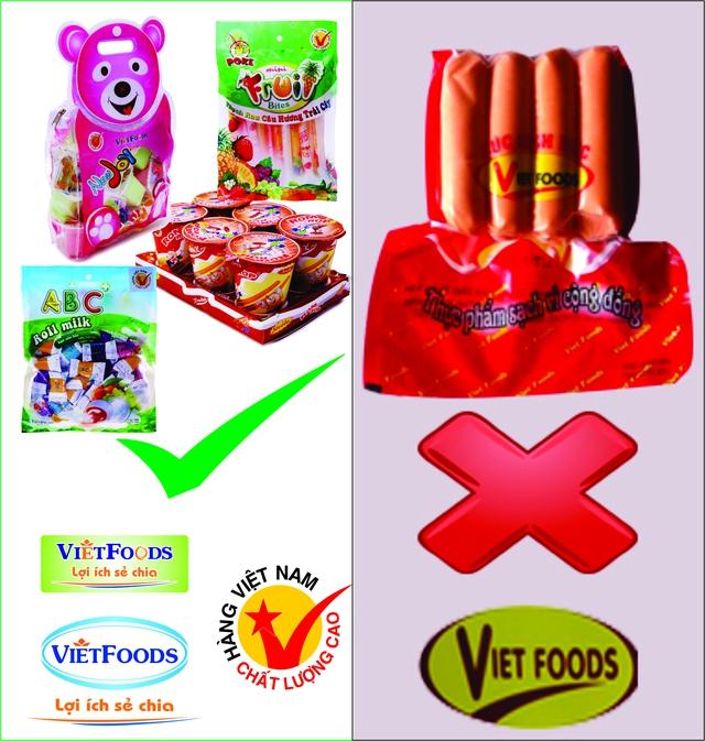 Sản phẩm thạch, bánh kẹo của Vietfoods và xúc xích nhiễm chất cấm của Viet Foods