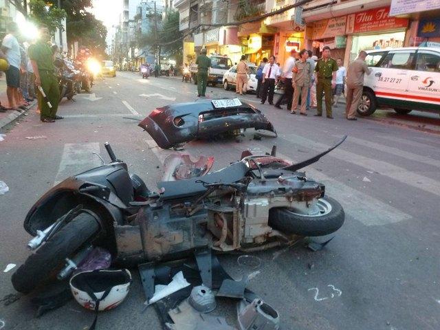 Một vụ tai nạn giao thông tại TP.HCM.