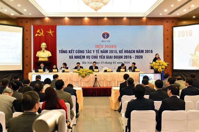 Toàn cảnh Hội nghị trực tuyến tổng kết công tác Y tế năm 2015