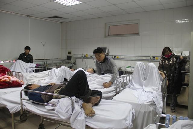 Các nạn nhân được nhập viện trong tình trạng đa chấn thương