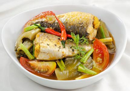 Cá đối kho cải chua 1