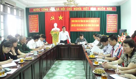 Đoàn công tác Tổng cục DS-KHHGĐ làm việc với tỉnh Tuyên Quang, Hà Giang 1