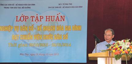 Phú Thọ: Khai giảng Lớp tập huấn nghiệp vụ DS-KHHGĐ 1