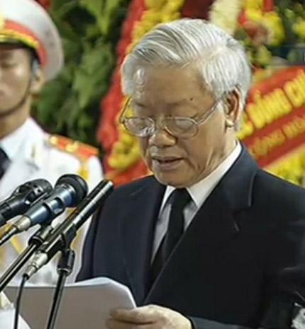 Điếu văn tang lễ Đại tướng Võ Nguyên Giáp 1