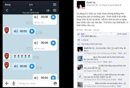 Vy Oanh bối rối vì lỡ để lộ tin nhắn riêng tư với bạn trai 1