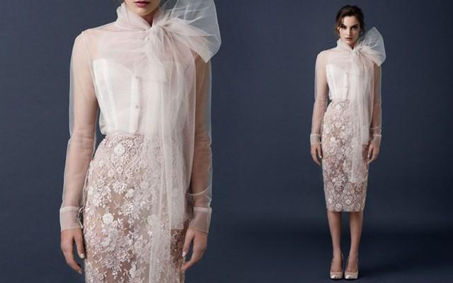 Ngoài các mẫu váy cưới bồng bềnh truyền thống, nhà thiết kế trẻ Saolo Sebastian còn giúp các cô dâu cá tính có thêm nhiều lựa chọn thú vị, với các mẫu váy cưới phá cách và hiện đại.