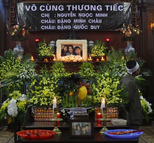 Ba mẹ con chị Nguyễn Ngọc Minh, cháu Dặng Minh Châu, Đặng Quốc Duy cùng người bố là anh Đặng Quốc Thắng (mất năm 2013) sẽ được gia đình đưa về yên nghỉ tại nghĩa trang Lạc Hồng Viên (Kỳ Sơn, Hòa Bình)