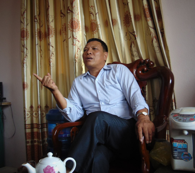 Ông Tạ Minh Hoàn đang trao đổi với PV. Ảnh:N.Hưng