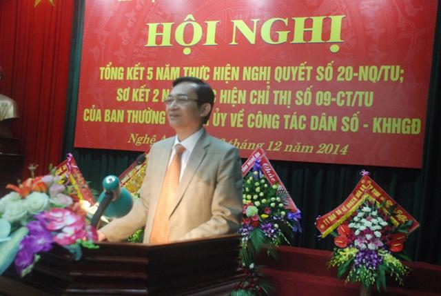 Đồng chí Lê Cảnh Nhạc phát biểu tại hội nghị