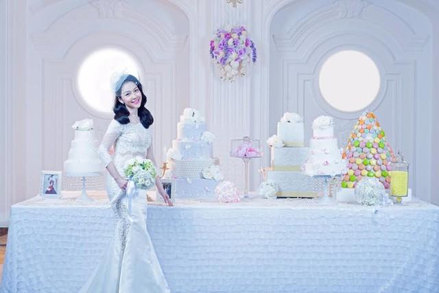 Linh Nga chính thức trở lại trong những bộ váy cưới sang trọng, tinh tế.