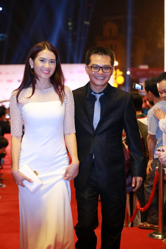 Diễn viên Trung Hiếu và diễn viên-người mẫu Anh Thư