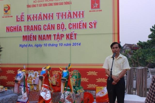 Lê Ngọc Hoa, Tổng Giám đốc CIENCO 4 đại diện cho CBCNV phát biểu