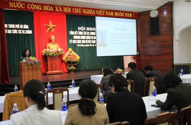 Hội nghị tổng kết công tác DS-KHHGĐ năm 2014, phương hướng nhiệm vụ năm 2015. Ảnh Đức Hoàng