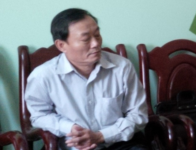 Ông Nguyễn Đình Tân, nguyên GĐ Công ty cổ phần dược vật tư y tế tỉnh Quảng Nam. Ảnh N.Ý