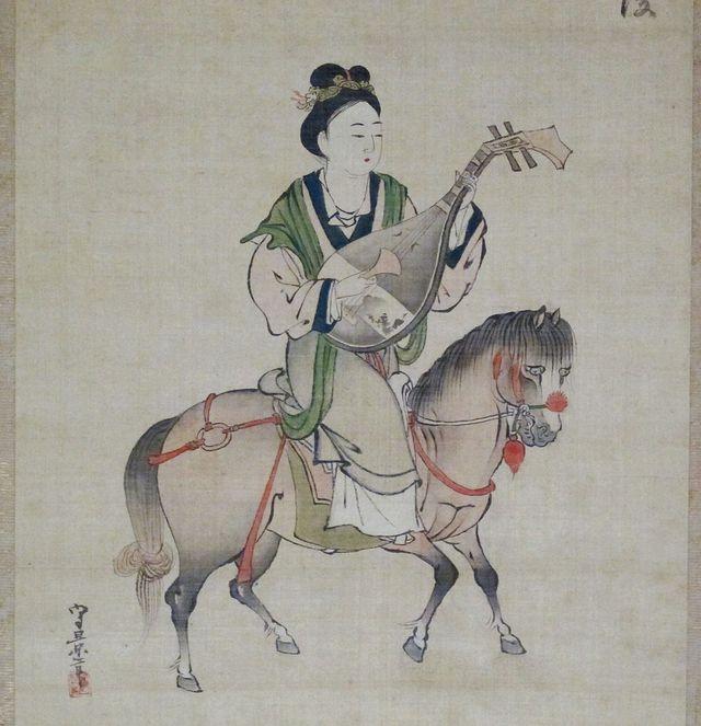 Tranh vẽ Vương Chiêu Quân cầm tỳ bà