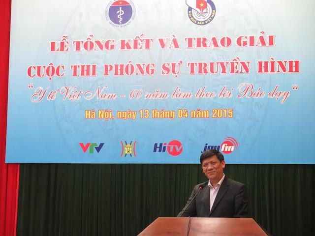 Thứ trưởng Nguyễn Thanh Long phát biểu tại buổi lễ