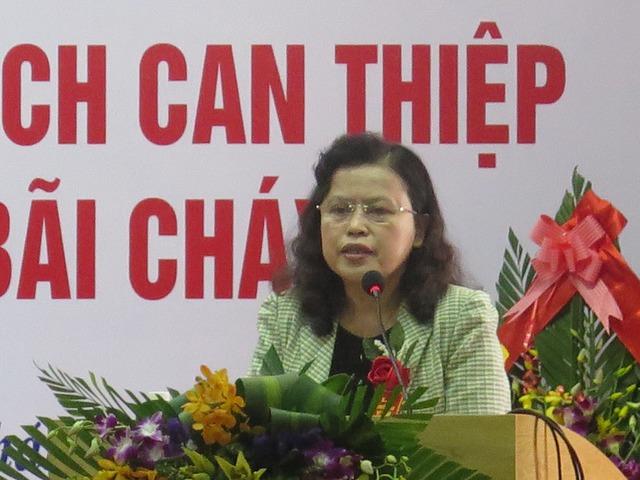 Thứ trưởng Bộ Y tế Nguyễn Thị Xuyên đã đến tham dự Lễ bàn giao
