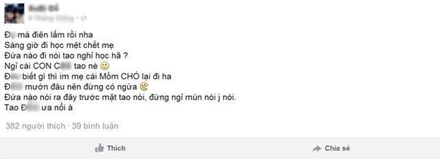 nói tục, chửi bậy, Hà Nội, học sinh, cô giáo, bún mắng, cháo chửi