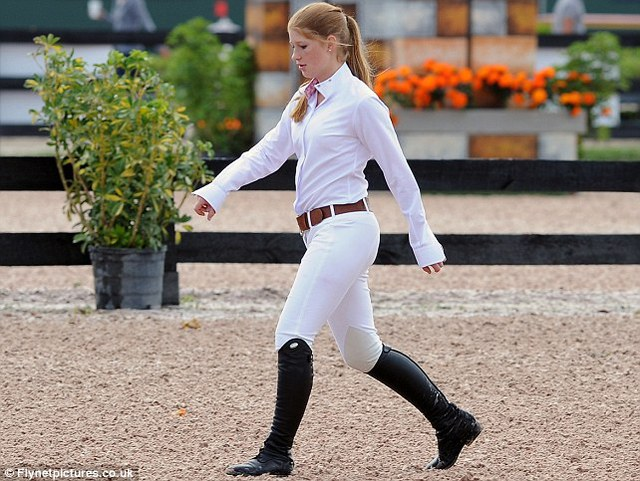 Talented: The family have been shuttling between their main home on Lake Washington in private jets to a rented mansion near Palm Beach so Jennifer can compete in the Winter Equestrian Festival