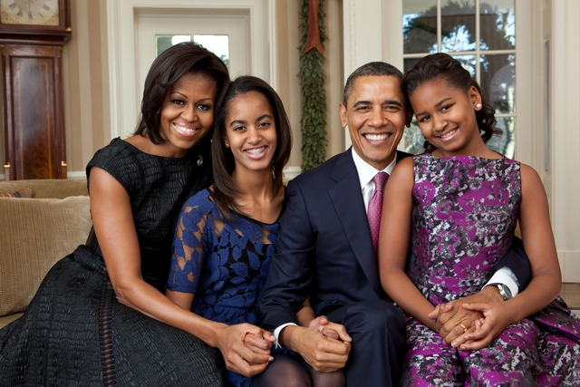 Gia đình hạnh phúc của Tổng thống Mỹ Barack Obama. Ảnh: Wikipedia