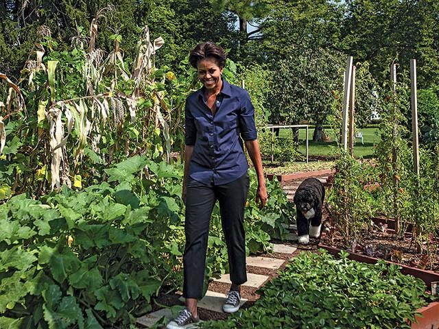 DOWN VEGGIE LANE photo | Bo Obama, Michelle Obama