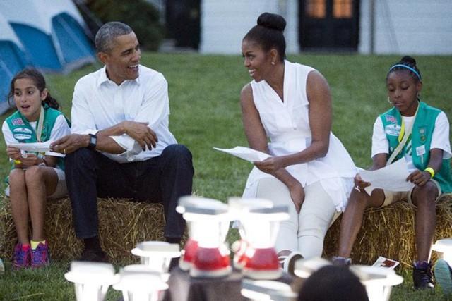 Ông Obama cùng hai con gái