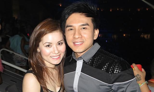 Đan Trường và bà xã Thủy Tiên đi xem ca nhạc tại Mỹ.